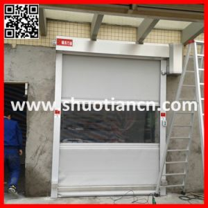 Rolling up Fabric Shutter Door Roll Fast (ST-001) pictures & photos