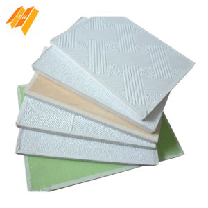 595X595mm PVC Laminated Gypsum Board Ceiling pictures & photos