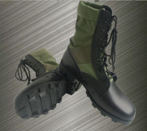 Military Genuine Leather Fashionable Canvas Military Combat Boot pictures & photos