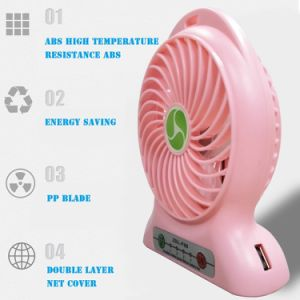 Hand Fans Battery Operated Rechargeable Handheld Mini Fan Electric Personal Fans Hand Bar Desktop Fan pictures & photos
