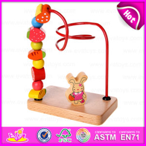 Kids Activity Cube Maze Toy Learning Toy, Wooden Intelligent Bead Maze Toy, Mini Around Beads Wire Maze Toy W11b075 pictures & photos