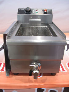 Single Tank Electric Fryer for Frying Food (GRT-E17V) pictures & photos