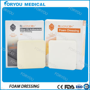 Foryou Medical Premium New Antibacterial Material Medical Sheet Wound Dressing Superabsorbent Foryou Silver Foam Dressing pictures & photos