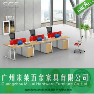 Modern Simple Design Straight Office Workstation Office Desk with Moving Cabinet pictures & photos