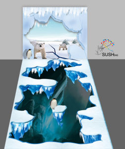 Arctic Polar Bears Penguins 3D Floor Sticker Wall Sticker pictures & photos