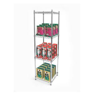Square Chrome Metal Wire Display Rack with NSF Approval pictures & photos