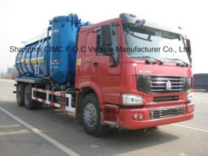 Sinotruk HOWO 6X4 Suction Tanker Truck pictures & photos