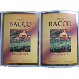 Customized Self Adhesive Sticker for Bacco (SZXY 612) pictures & photos