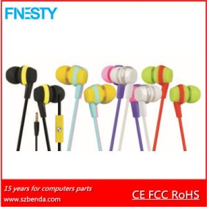 2016 High Quality Wired Plastic Earphone with Mic