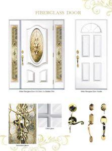 High End Hand Craftsmanship Decorative Glass Inserted Dollhouse Fiberglass Door pictures & photos