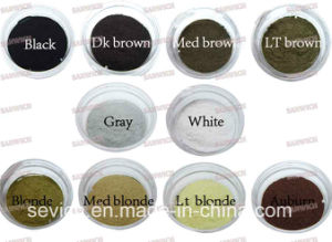 10 Colors Wholesale Hair Thickening Keratin Hair Building Fibers Powder pictures & photos