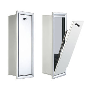 Stainless Steel Recessed Toilet Brush Cabinet (9106)