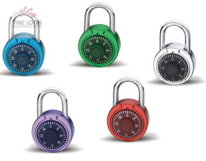 High Quality Aluminum Alloy Combination Wheel Padlock pictures & photos