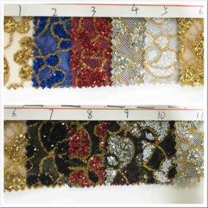 Gl-304 Decorative Shiny Glitter Wallpaper Fabric pictures & photos