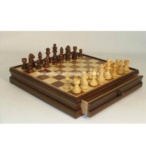 Wood Inlaid Chest and Chessmen pictures & photos
