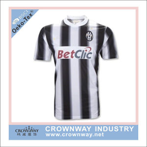 Sublimation Printing Moisture Wicking Juventus Soccer Jersey Football Shirt pictures & photos
