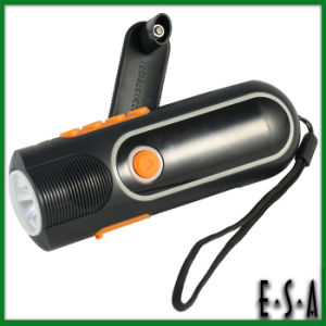 2015 Cheapest LED Flashlight for Emergency, Promotional LED Flashlight, High Power Rechargeable Hand Crank LED Flashlight G01e126 pictures & photos