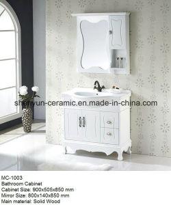 Bathroom Furniture Bathroom Cabinet with Ceramic Wash Basin (MC-1003) pictures & photos
