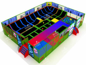 Kaiqi Ultimate Indoor Trampoline Park Playground with Climbing Wall and Foam Pit (TR321A) pictures & photos
