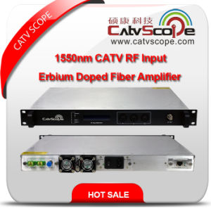 Professional Supplier High Performance 1550nm CATV RF Input EDFA Erbium Doped Fiber Amplifier pictures & photos
