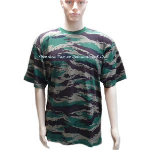 Men′s Cotton Army T-Shirt in Camouflage pictures & photos