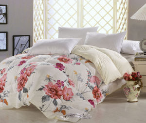 Printing Soft Cotton Cover Grey Duck Down Filling Duvet