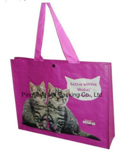 High Quality OPP Lamination Advertising PP Woven Shopping Bag pictures & photos