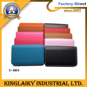 Exhibition Promotional Gift Gennuie Leather Card Case (K-004) pictures & photos
