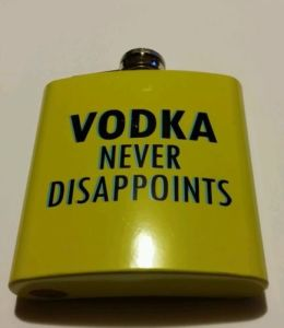 Hip Flasks Vodka Never Disappoints Party Gigs Festival Hen Stag pictures & photos