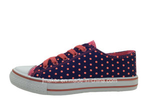 China Low Price Ladies Casual Canvas Shoe (D278-L)