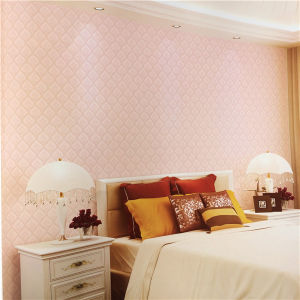 China Manufacturer Competitive Price Pink Classic Decorative PVC Wallpaper pictures & photos