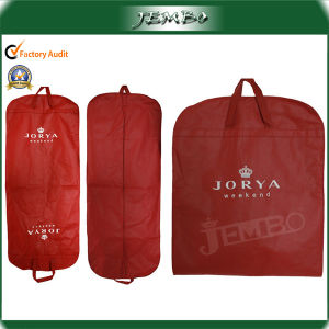 Red Foldable Non-Woven Suit Bag with Double Handles pictures & photos
