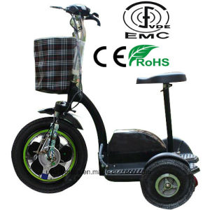 2017 Three Wheel Electric Tricycle with Lengthened Seat for Adult pictures & photos