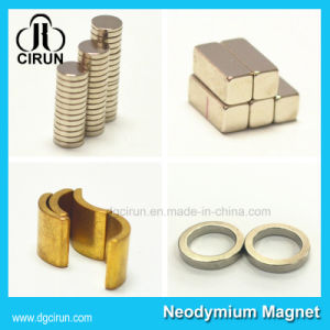 Customized Neodymium Disc Cylinder Block Ring NdFeB Magnets pictures & photos