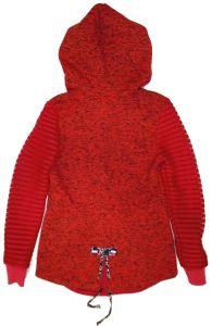 Women′s Fleece Butoon Jacket with Hoody pictures & photos