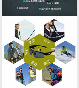 V4.1 Wireless Headphones Bluetooth Sunglasses Polarized Lens English Voice Music Headset Phones pictures & photos