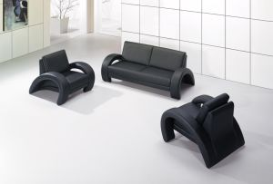 Hot Sale Black Color Genuine Leather Office Sofa