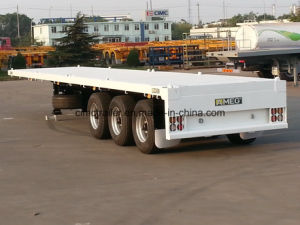 Cimc 40FT Flatbed Trailer with Single Tire and Air Suspension Truck Chassis pictures & photos