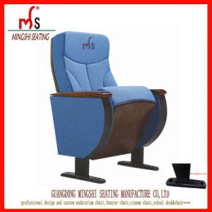 New Blue Auditorium Chair with Writing Pad (Ms-221)