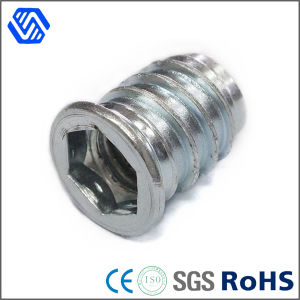 Carbon Steel Blue White Zinc Plated Lock Nut Countersunk Hex Insert Nut pictures & photos