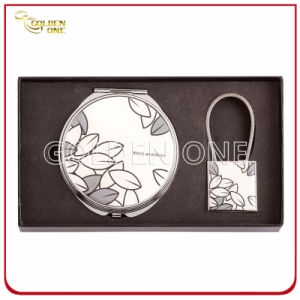 Fashionable Makeup Mirror and Keychain Gift Set pictures & photos