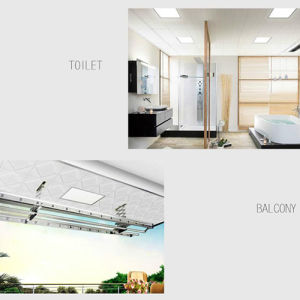 Efficient Energy Saving Cool White Double Color Square Panel Light Used in Office pictures & photos