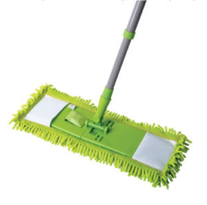 Telescopic Handle Chenille Microfiber Feather Flat Mop (1013) pictures & photos