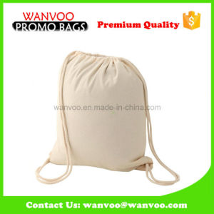 100%Cotton Fashion Drawstring Backpack Bag for Travel pictures & photos