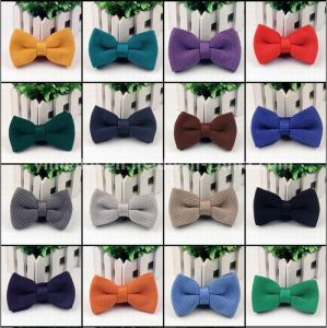 British Fashion Plain Color Polyester Wool Knitted Bowties pictures & photos