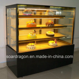 Straight Glass Cake Refrigerator with 3 Layers Glass Shelves pictures & photos