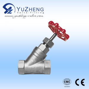 Y-Type Threaded Globe Valve in Stainless Steel pictures & photos
