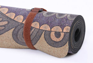Anti-Mircrobal Natural Cork Yoga Mat with Rubber Base Made in China Factory pictures & photos