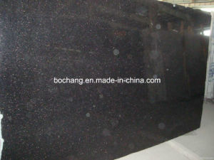 Chinese Black Galaxy Granite Slab for Landscape Park pictures & photos