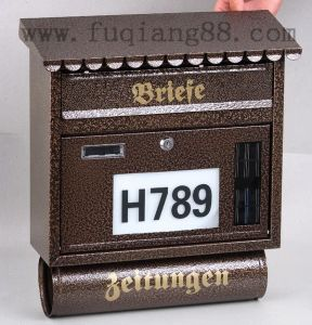 Classic European Design Solar Mailbox with House Number pictures & photos